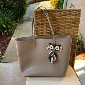 Kate Spade Large Tote Star Bright Owl Grey